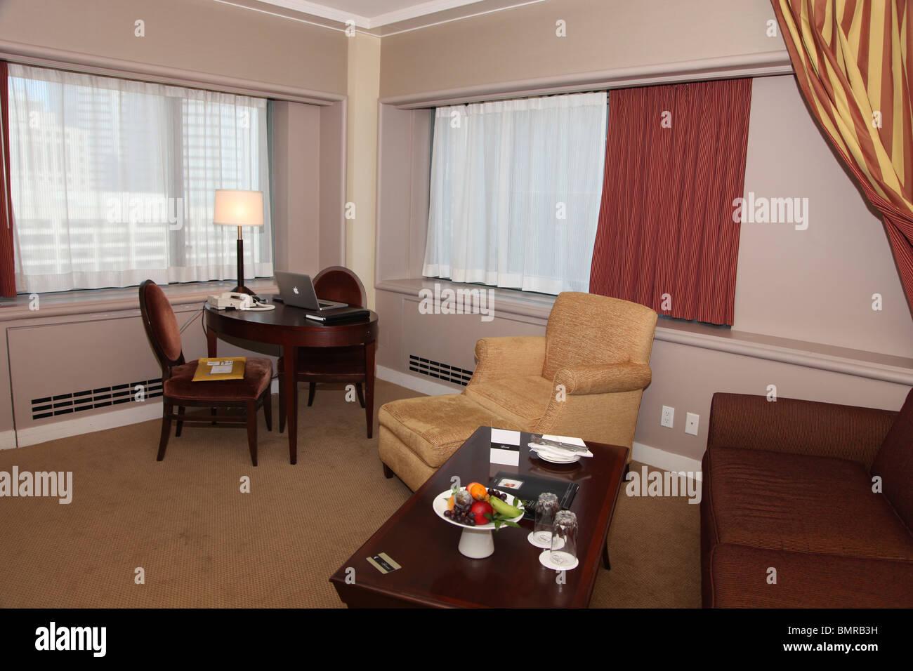 Suite Fairmont Queen Elizabeth Hotel, Montreal Imagen De Stock