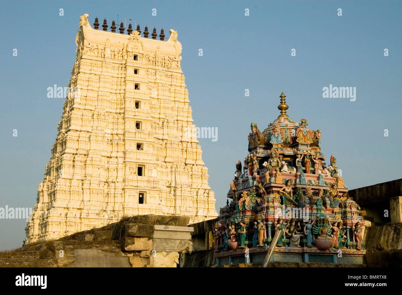 Templo de Rameswaram Ramanathswamy ; ; ; Tamilnadu, India Foto de stock