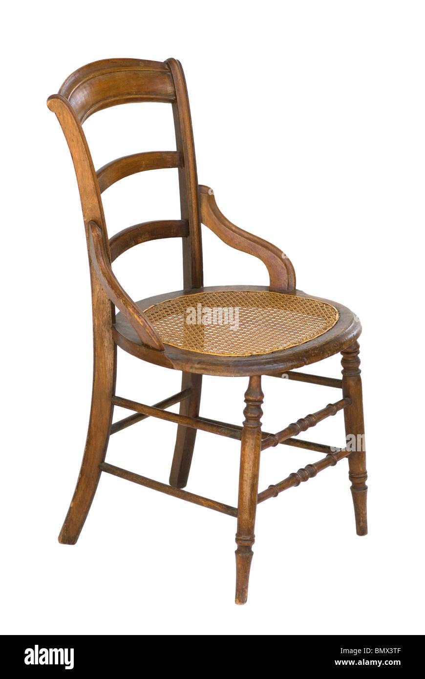 Vintage silla de madera con brazos modificados escalera y for Silla escalera de madera