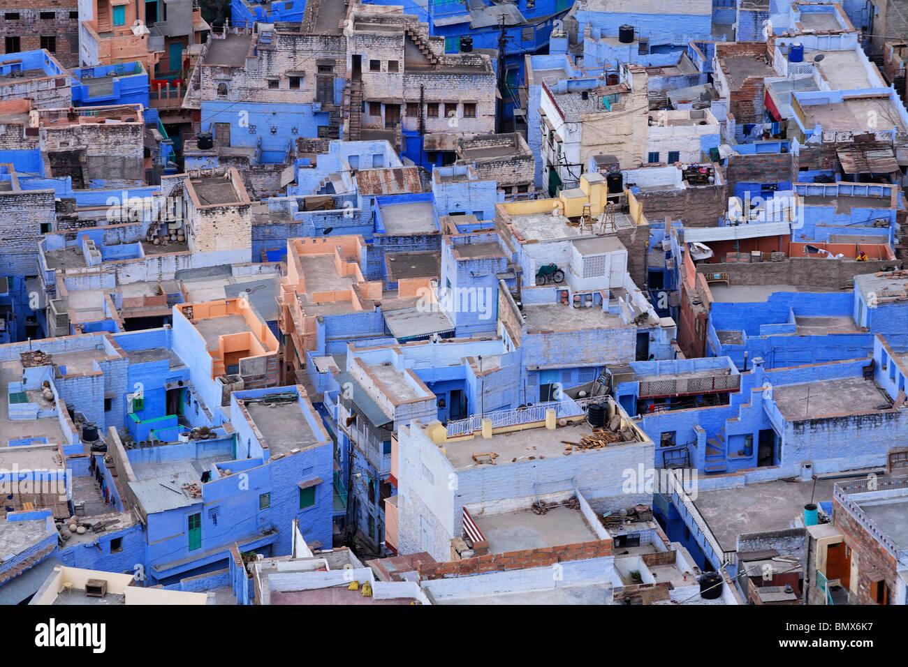 La ciudad azul de Jodhpur, Rajasthan, India Foto de stock