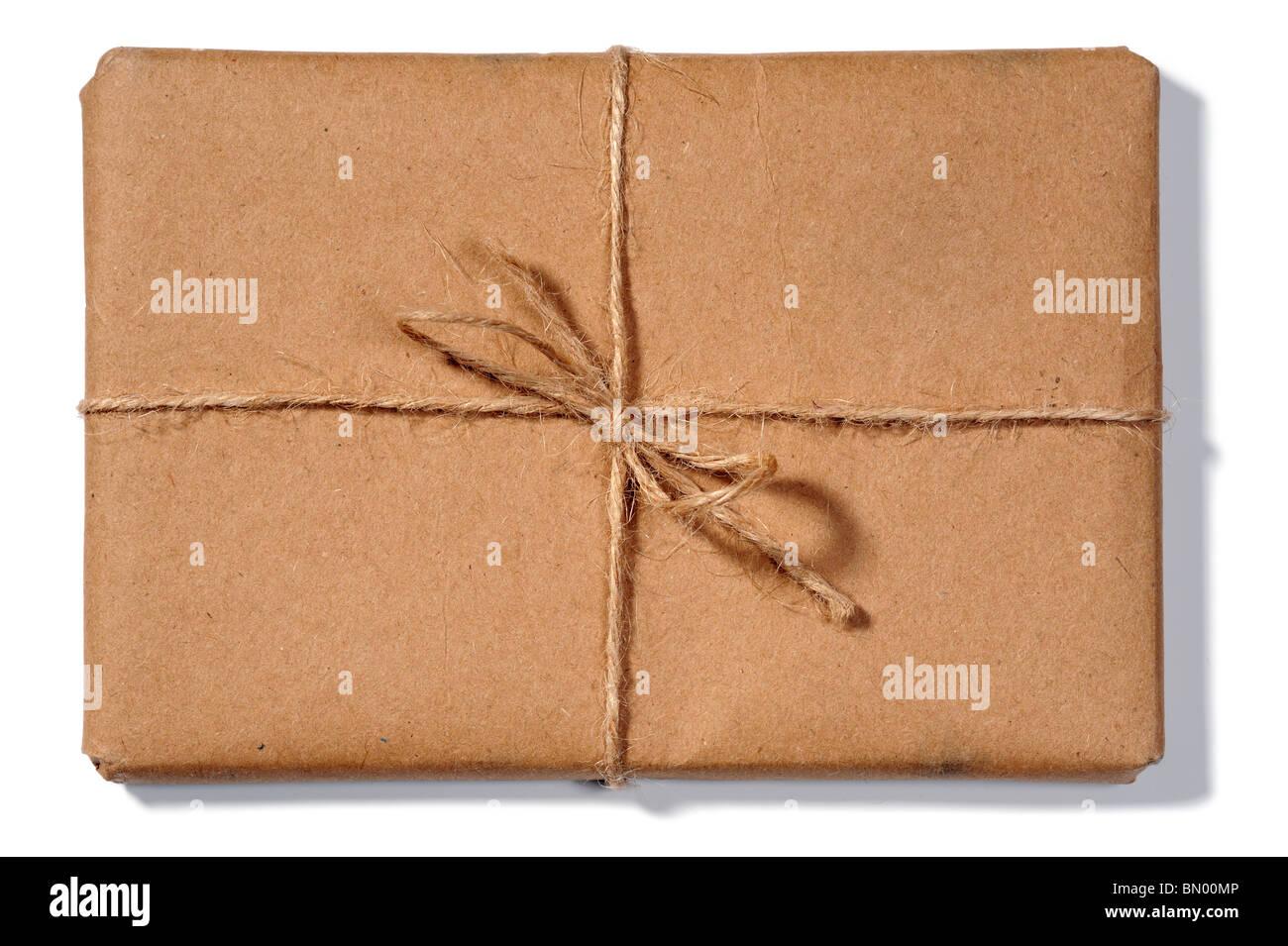 Paquete atados con una cuerda Foto de stock