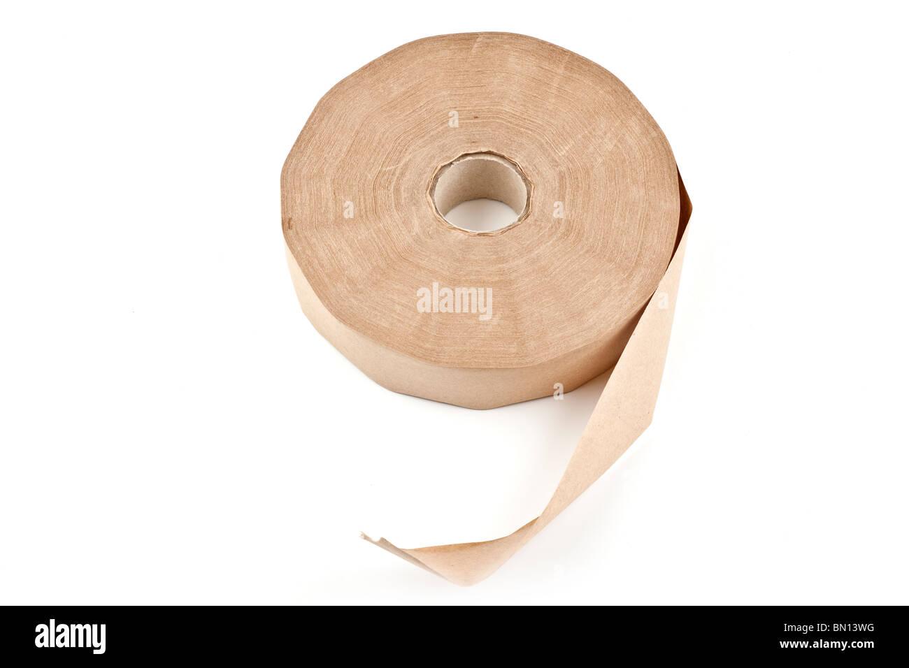 Rollo de cinta de papel marrón autores Imagen De Stock