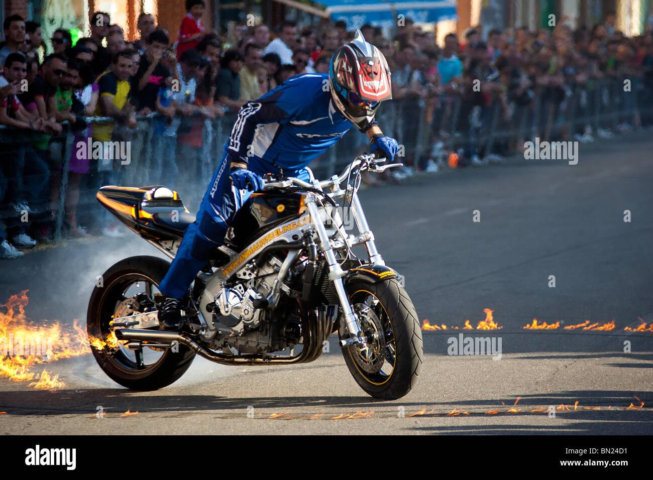 Superbike Show. Benavente, España. Foto de stock