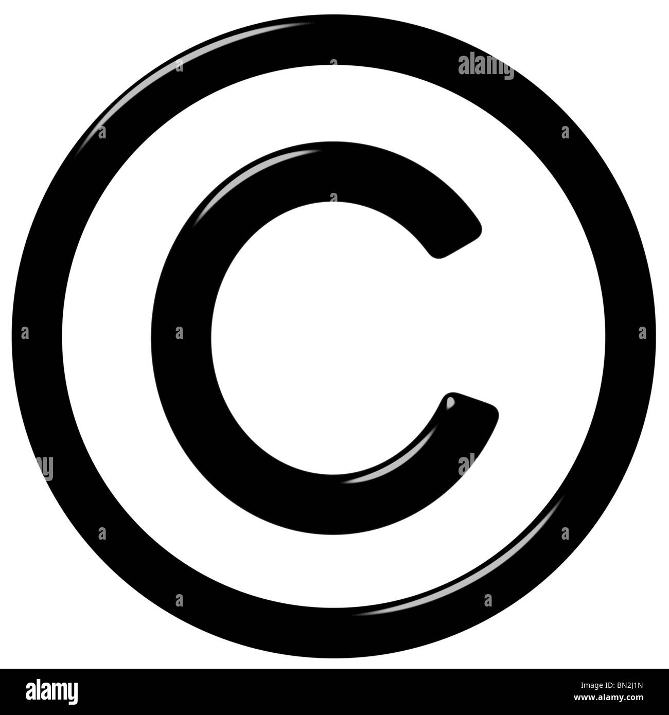 3d símbolo de copyright Foto de stock