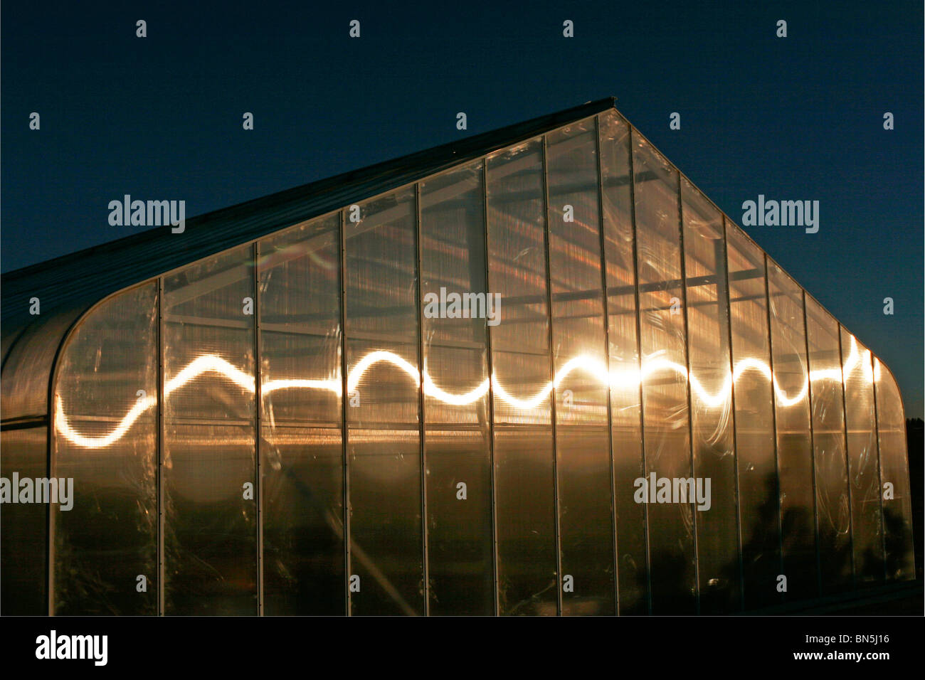 Jardín Invernadero con reflexión swirl Imagen De Stock