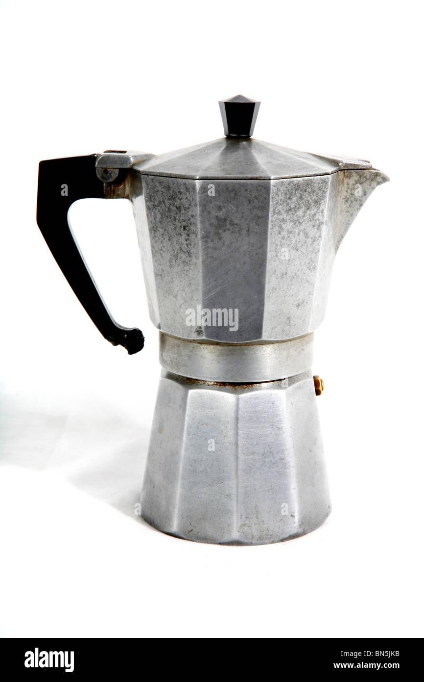Cafetera antigua Fotografía de stock Alamy