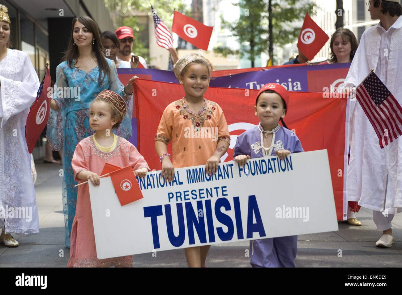 Los inmigrantes internacionales Parade, NYC: Foto de stock