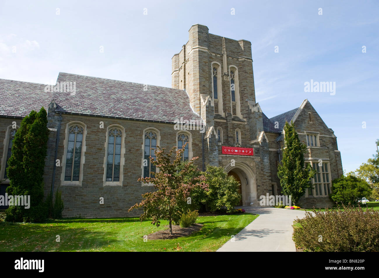 Annabel Taylor Hall actividades religiosas Campus de la Universidad de Cornell Ithaca región de Finger Lakes Imagen De Stock