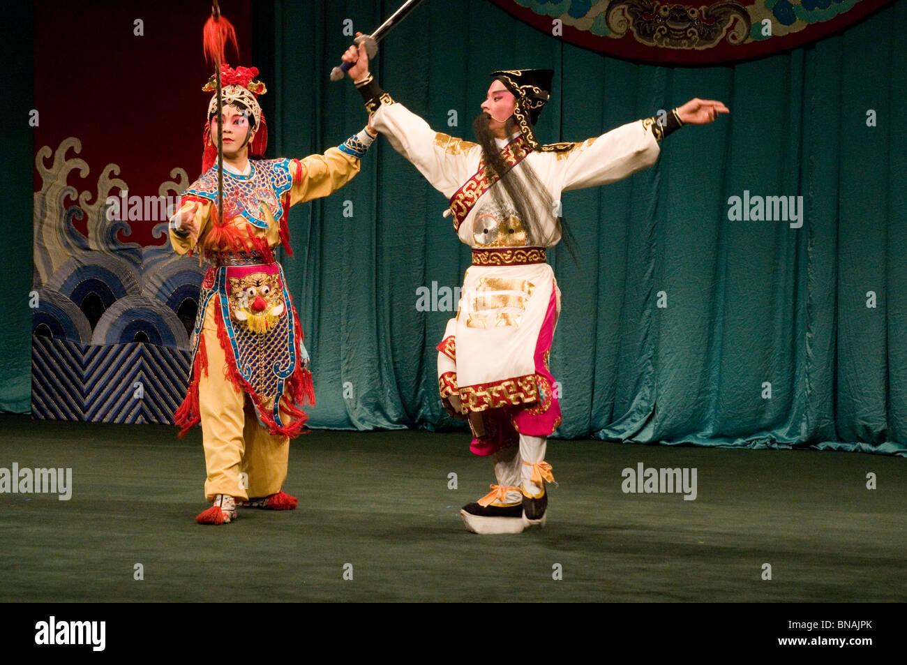 Rendimiento de la ópera china en Taipei Eye, Taipei, Taiwán. Imagen De Stock