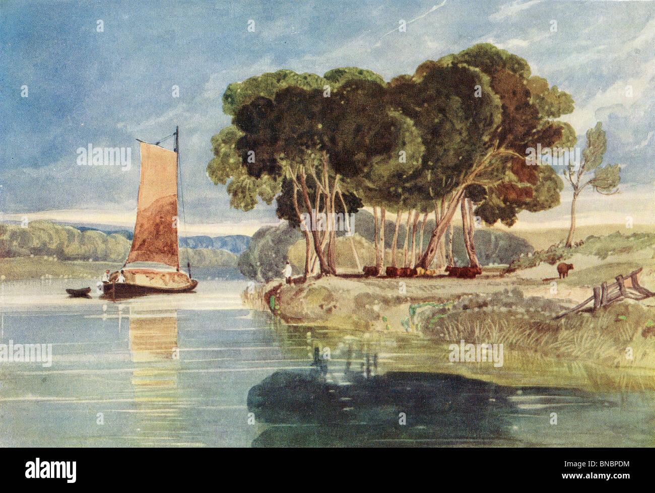 Una escena de río Foto de stock