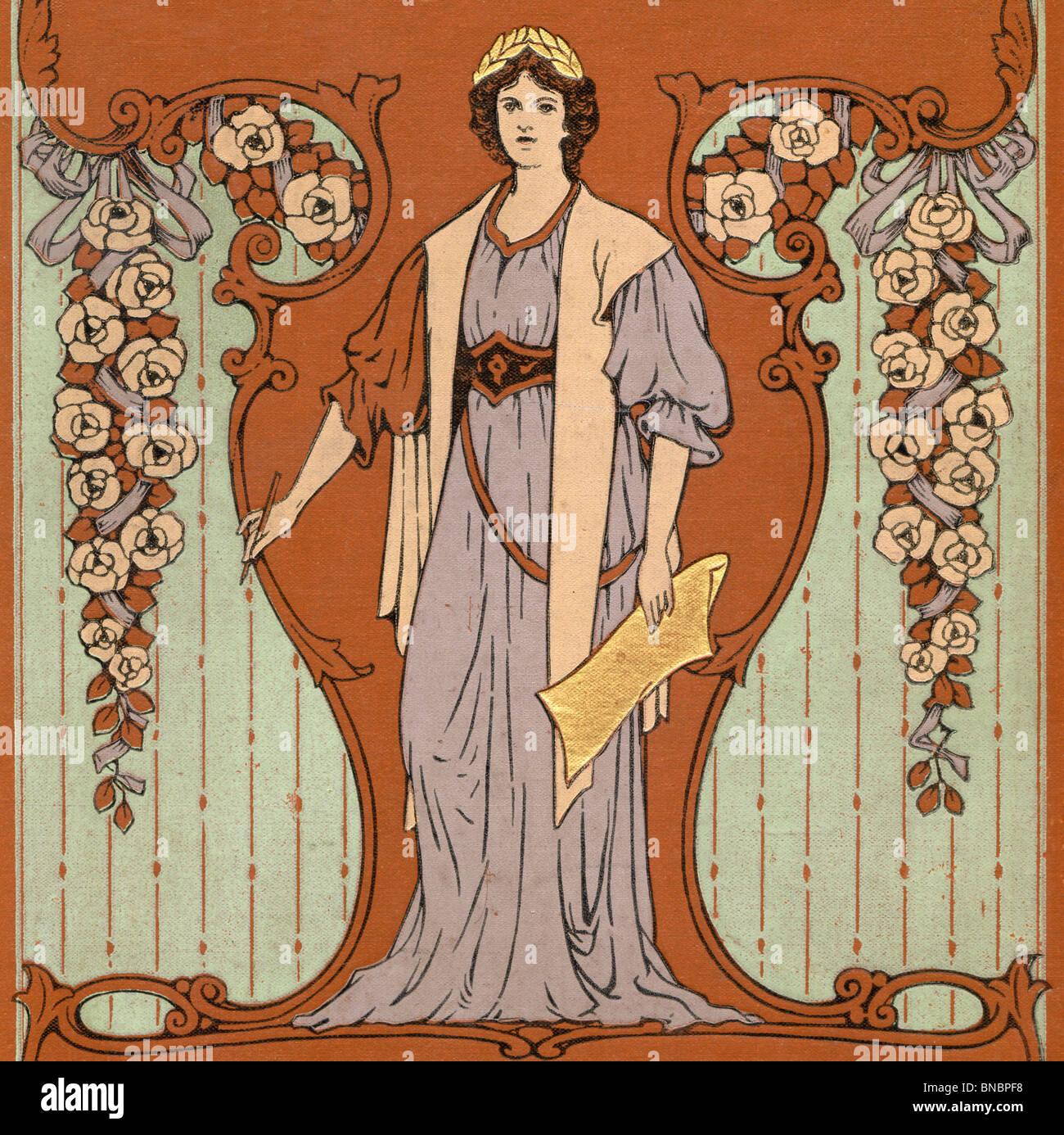 Mujer y flores. Imagen De Stock