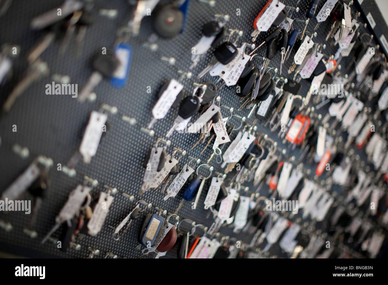 Llaves del coche Imagen De Stock