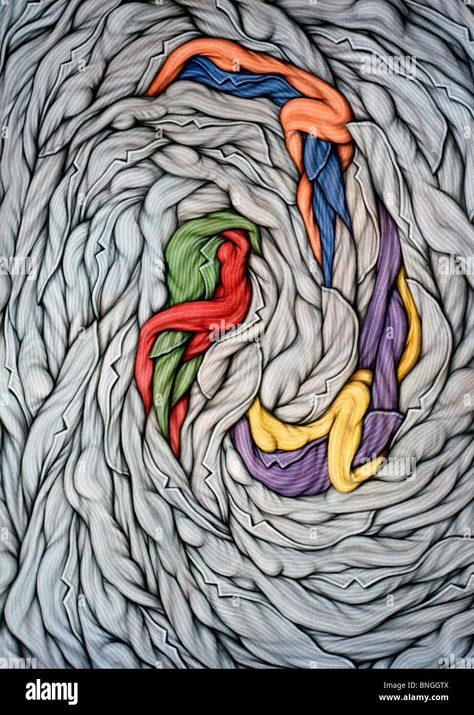 En la rueda de Ernesto Bertani, acrílico sobre lienzo, 2002, (nacido en  1949), Argentina, Buenos Aires, Zurbarán Galeria Fotografía de stock - Alamy