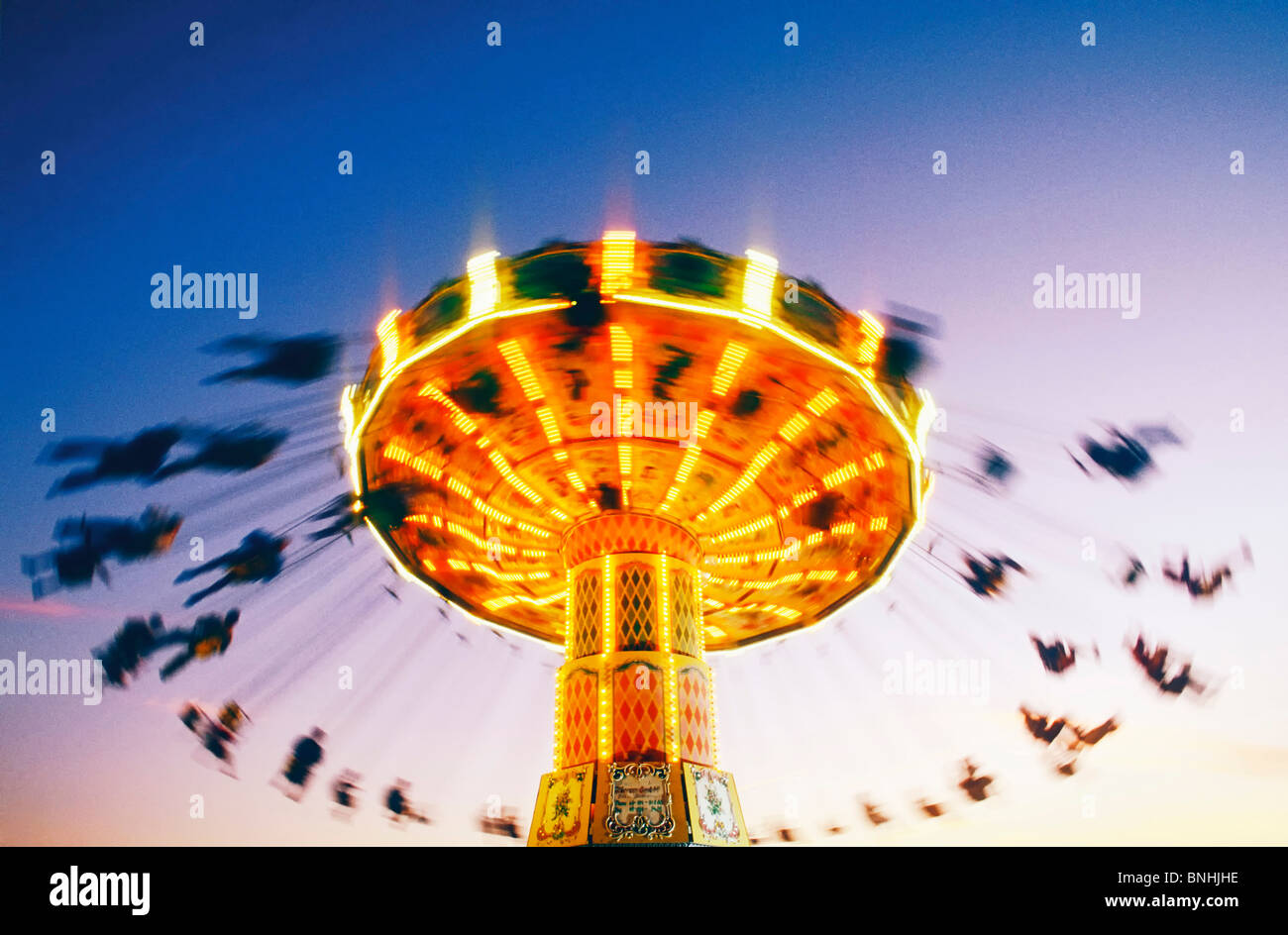Suecia Estocolmo Merry go round Actividad de acción Amusement amusement park parques de atracciones Carrusel Imagen De Stock