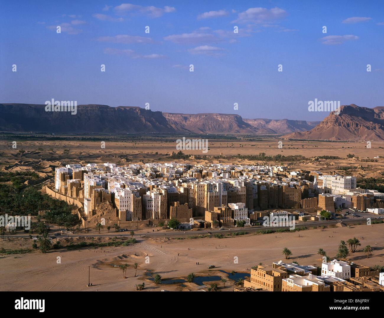 Febrero de 2005 el valle de Hadhramaut Yemen Shibam ciudad Patrimonio de la humanidad de la UNESCO Imagen De Stock