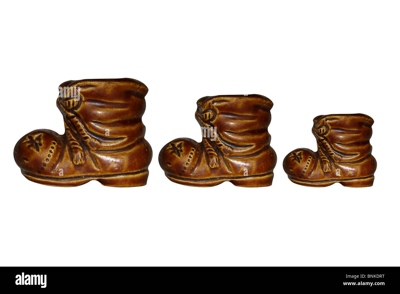 Aumentar disminuir el tamaño de la elección del zapato Imagen De Stock