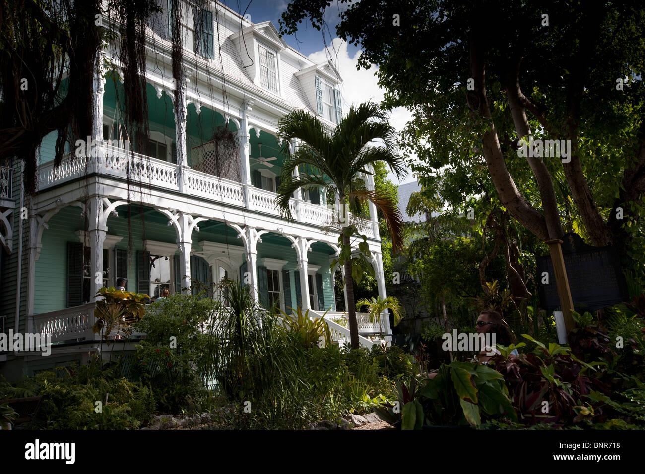 Vista frontal de la mansión de Porter, un edificio de estilo Queen Anne. El Dr. Joseph Yates Porter residieron allí. Foto de stock