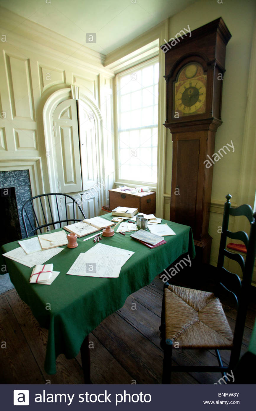 La sede de Washington o Isaac Potts House, Valley Forge National Park, Pennsylvania Foto de stock