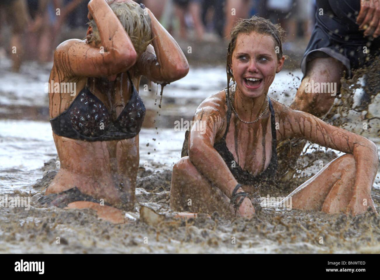 Przystanek Woodstock - al aire libre más grande de Europa festival en Kostrzyn, Polonia Imagen De Stock