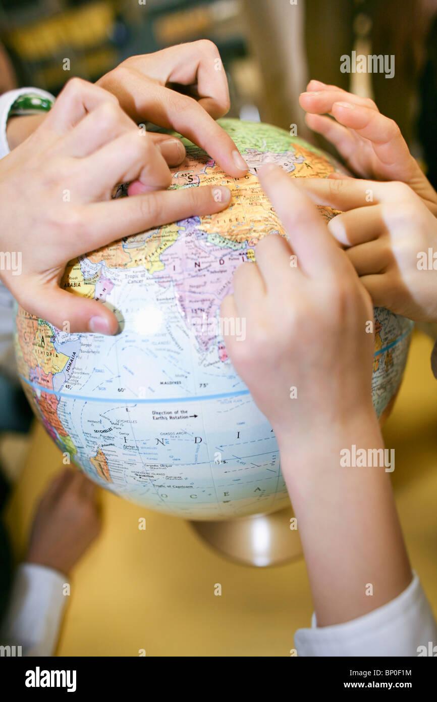 Canadá, Quebec, Montreal, escuela privada, clase de geografía Imagen De Stock