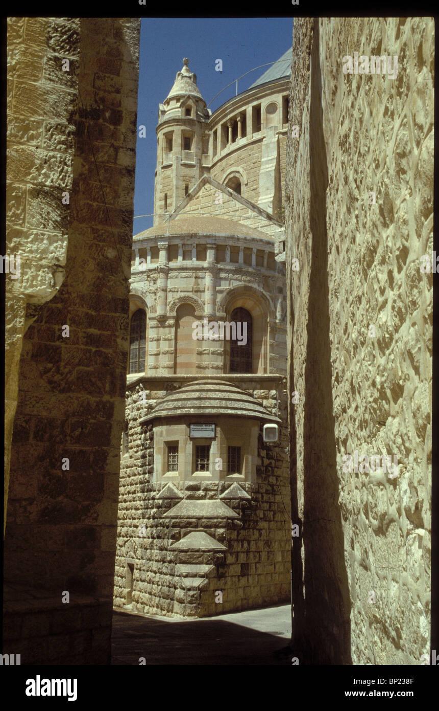 143. La iglesia de ÊDORMITION, en MT.Sión, donde la Virgen María cayó en el Sueño eterno Imagen De Stock