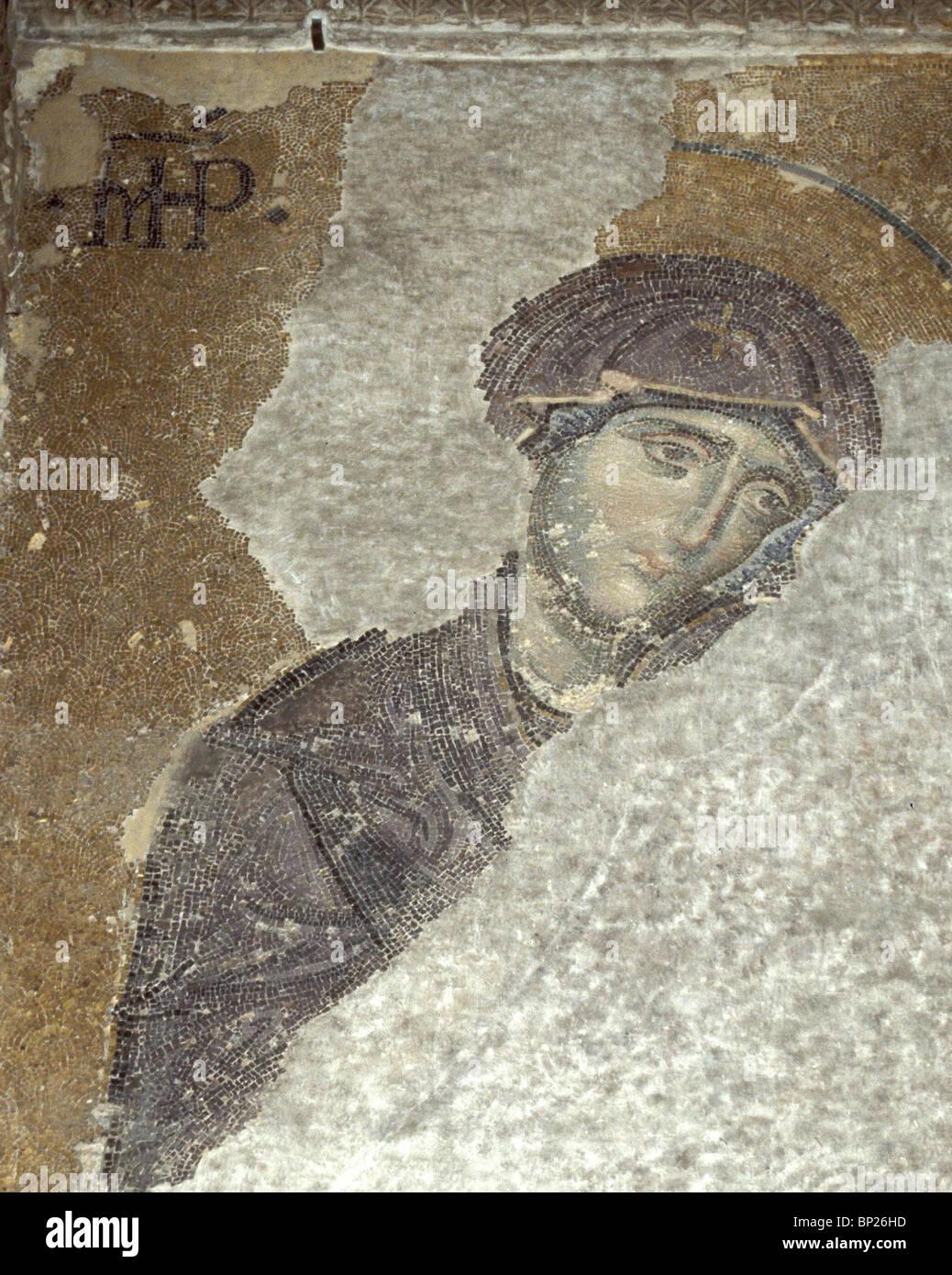 1096. La Virgen María, 9ª. C. mosaico de Hagia Sophia, Estambul Imagen De Stock