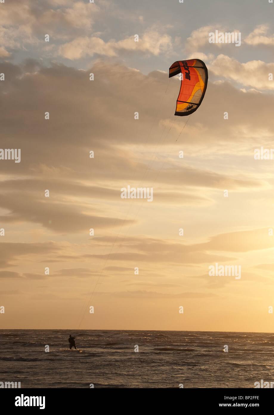 Wind Surf off Southport Imagen De Stock