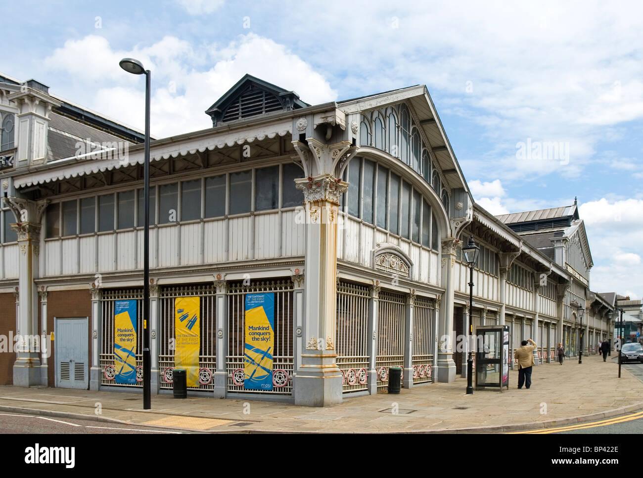 El Museo de Ciencia e Industria de Manchester (MOSI), ubicado en la ciudad de Manchester, Inglaterra. Imagen De Stock