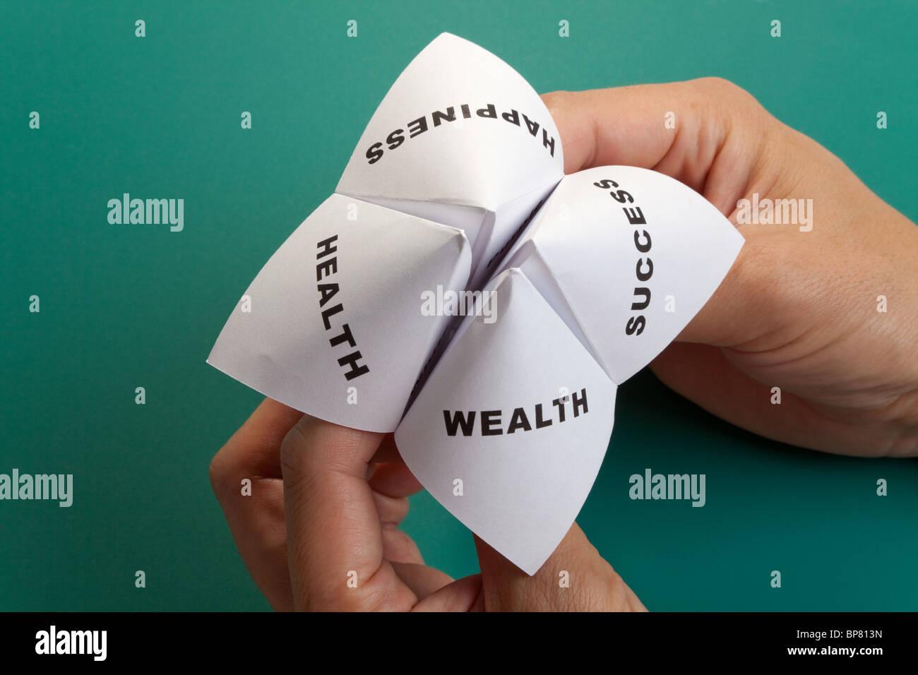 Papel Adivino,el concepto de equilibrio de la vida Imagen De Stock