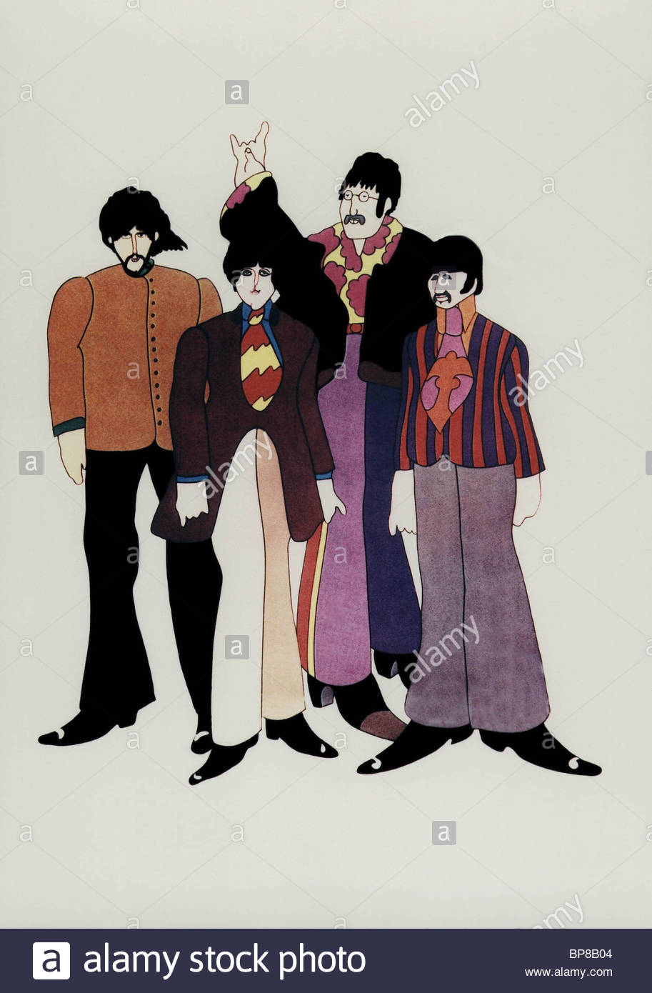 Los dibujos animados de THE BEATLES Yellow Submarine de los beatles (1968) Imagen De Stock