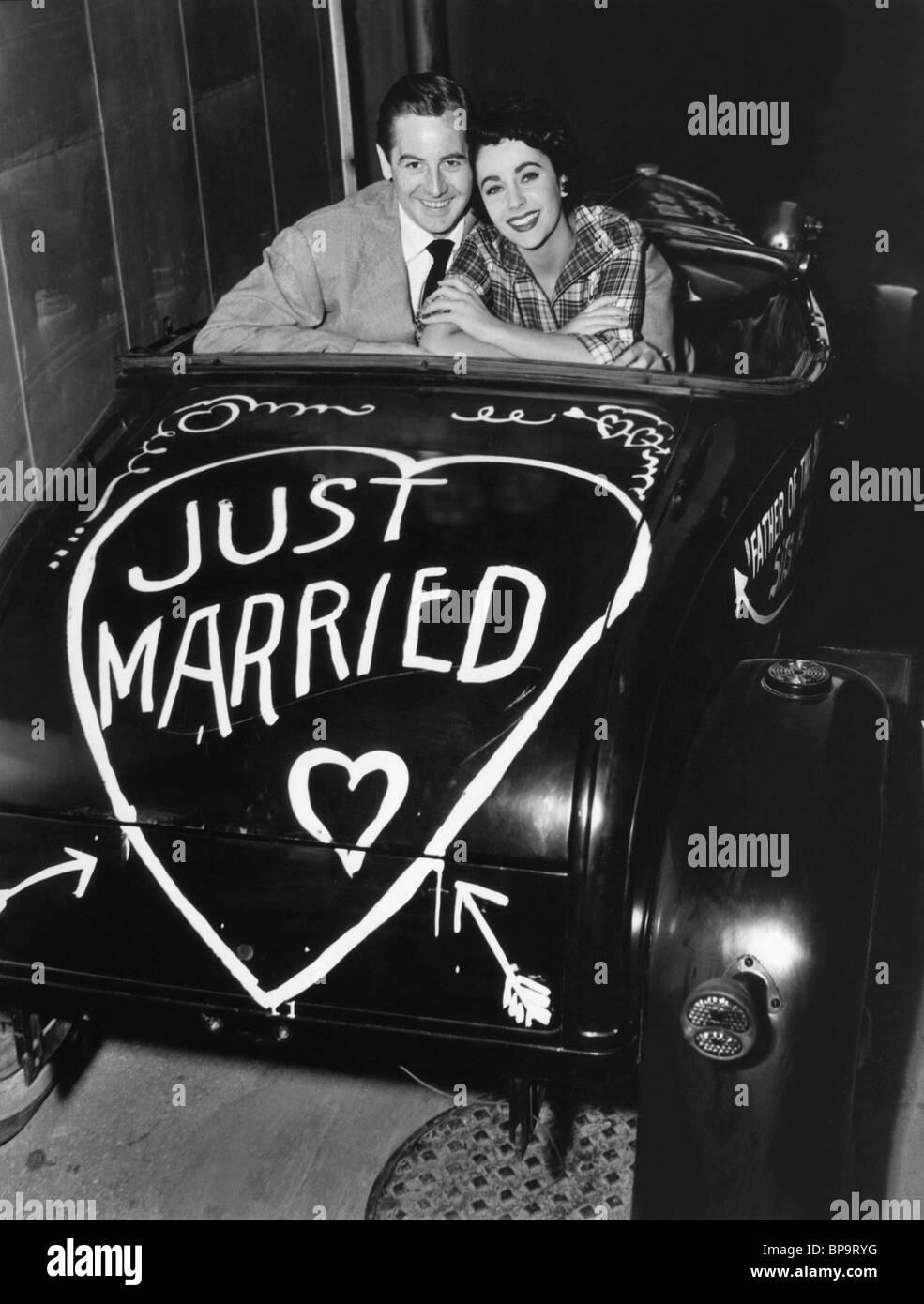DON TAYLOR & Elizabeth Taylor, el padre de la novia (1950). Imagen De Stock