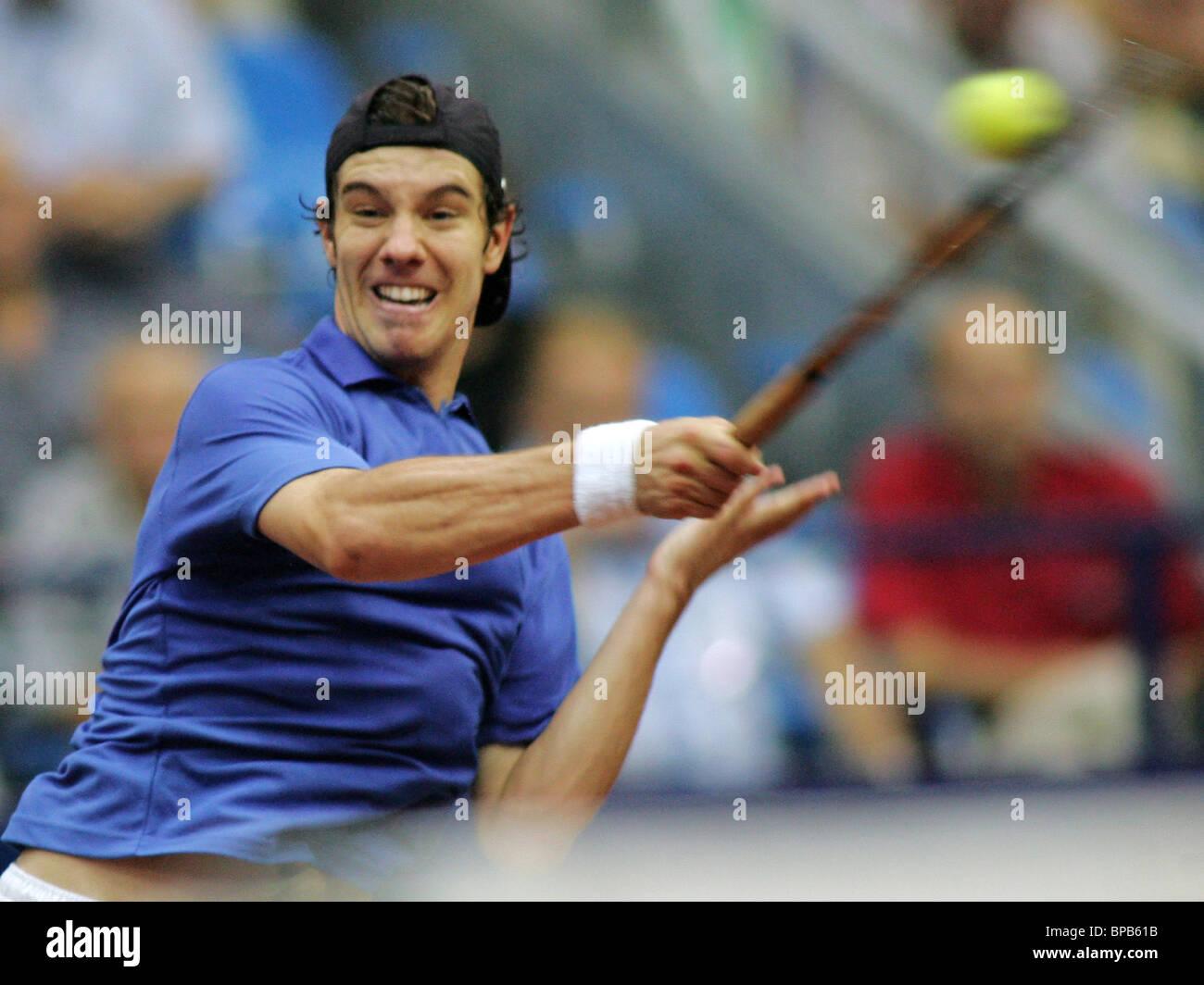 Rusia llega a las semifinales de Copa Davis Foto de stock