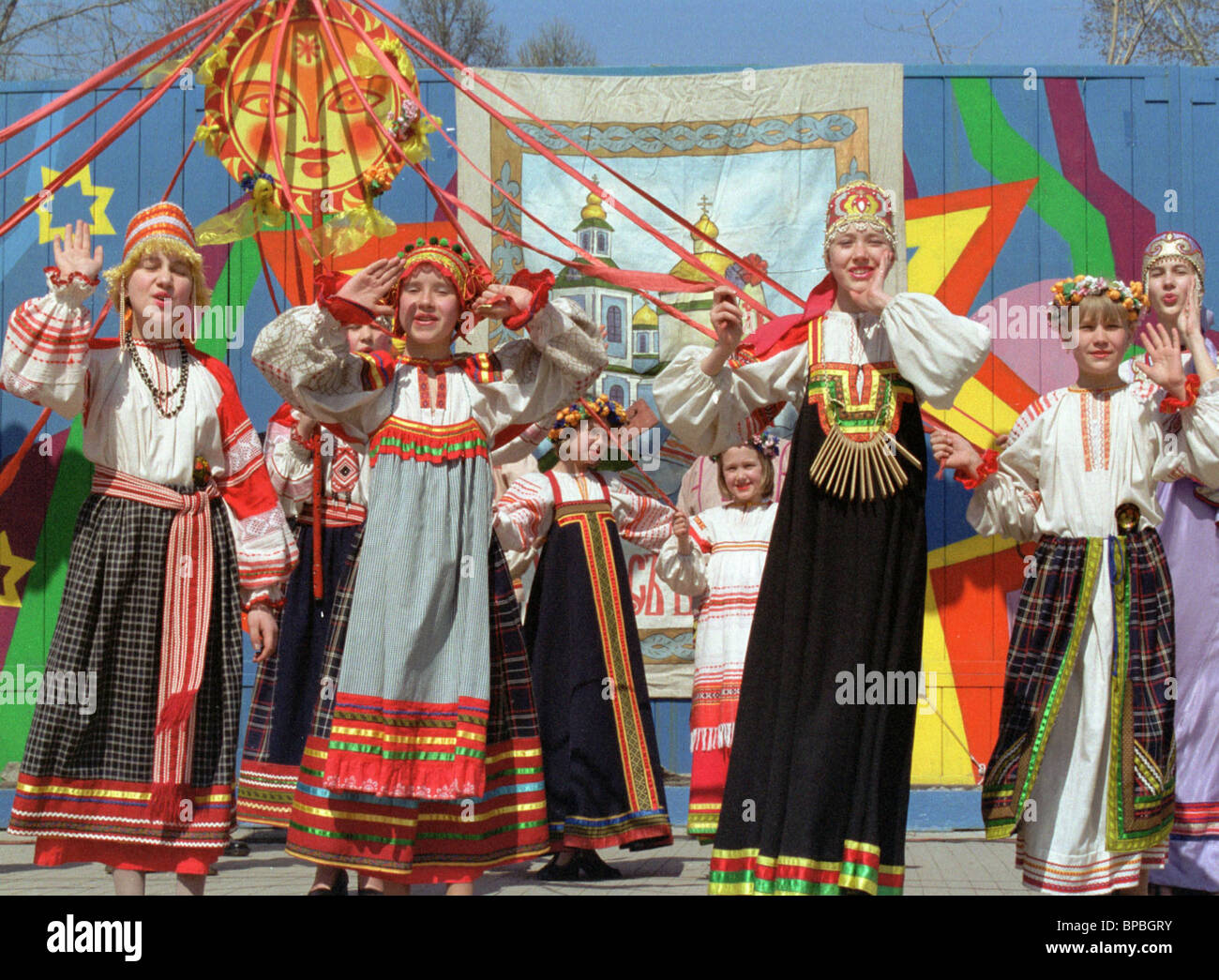 Las festividades de Pascua en Novosibirsk Foto de stock