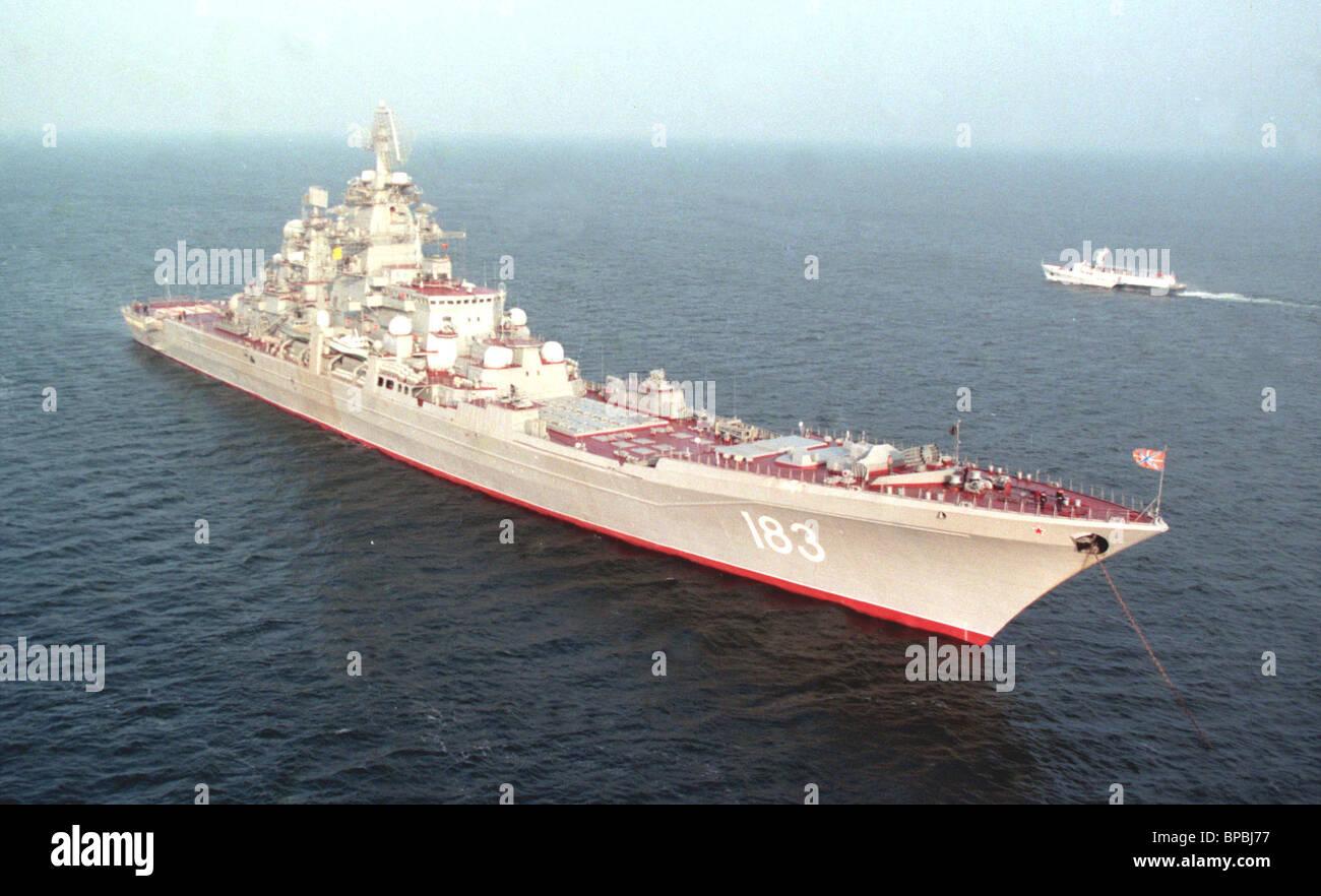 Cruiser Pyotr Veliki Foto de stock