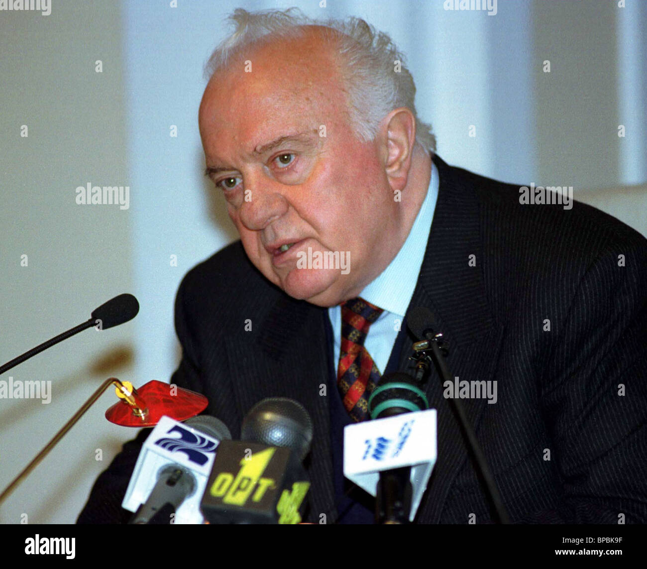 El Presidente de Georgia, Eduard Shevardnadze Imagen De Stock