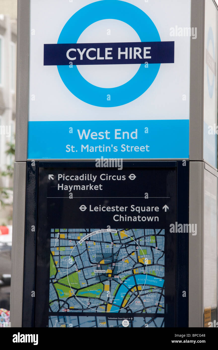 Plan de alquiler de bicicletas de Londres, West End, Londres, Inglaterra, Reino Unido. Imagen De Stock