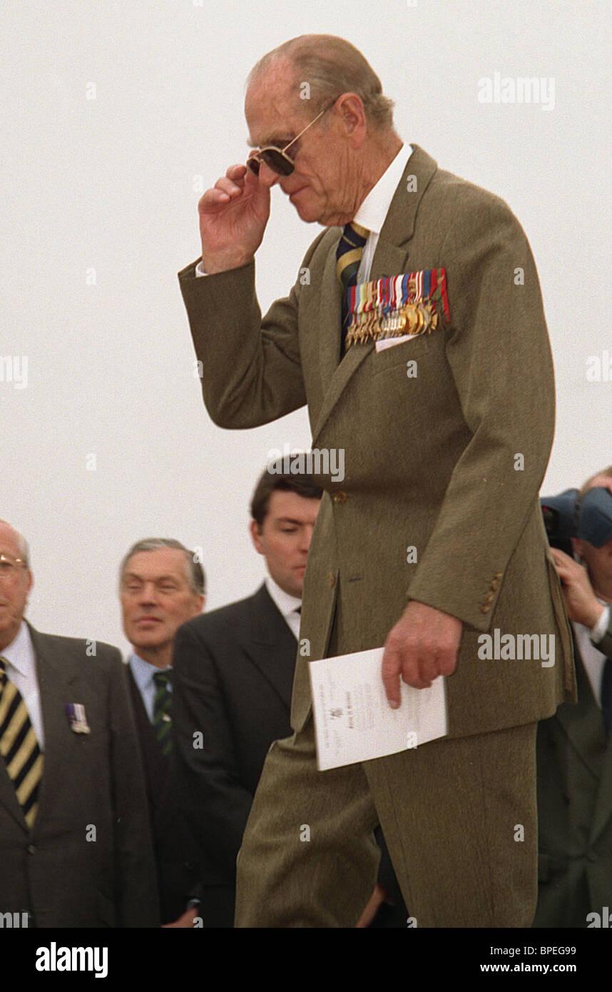 Duque de Edimburgo visitas Crimea Imagen De Stock