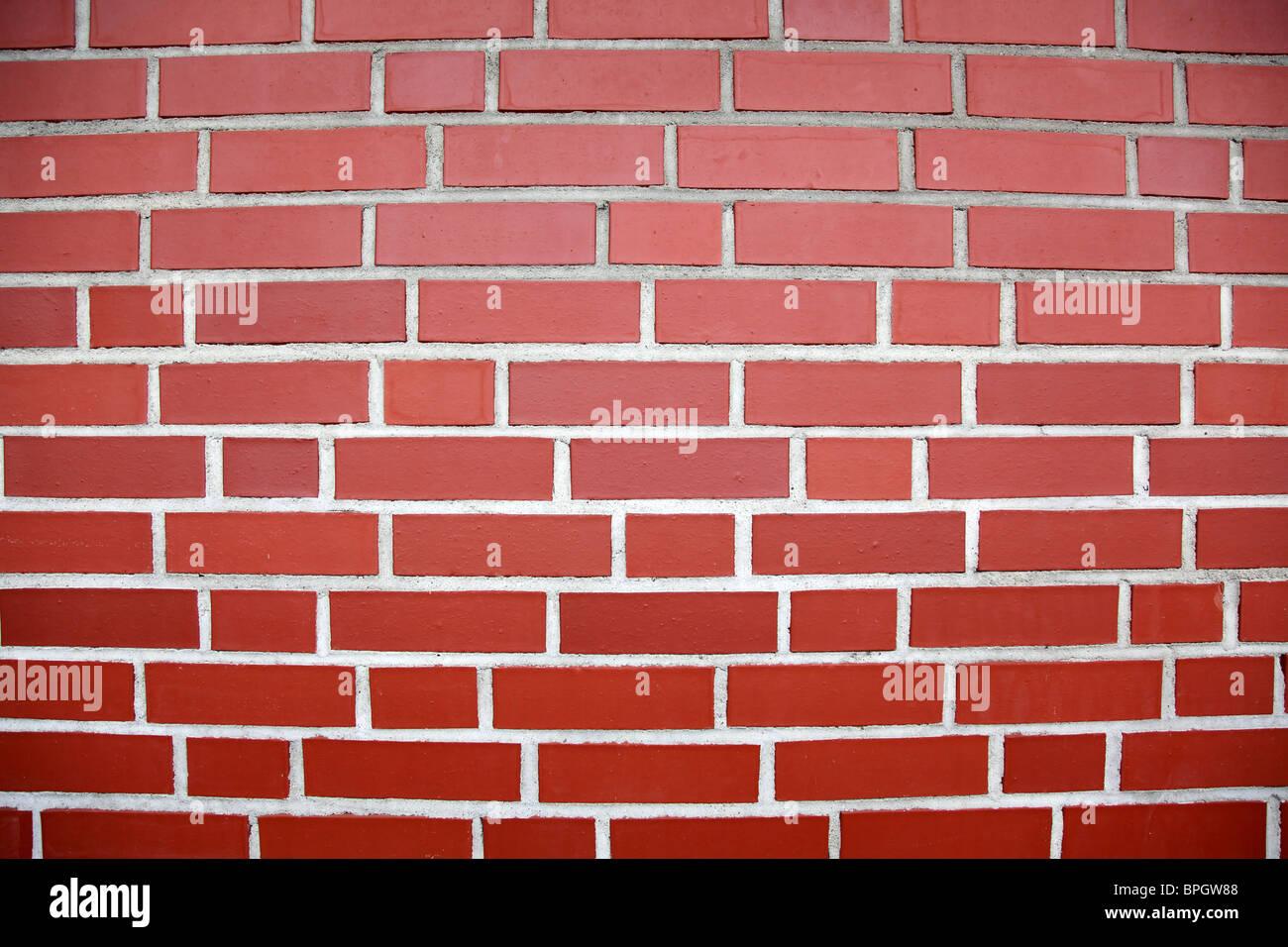 Pared de ladrillo rojo Imagen De Stock