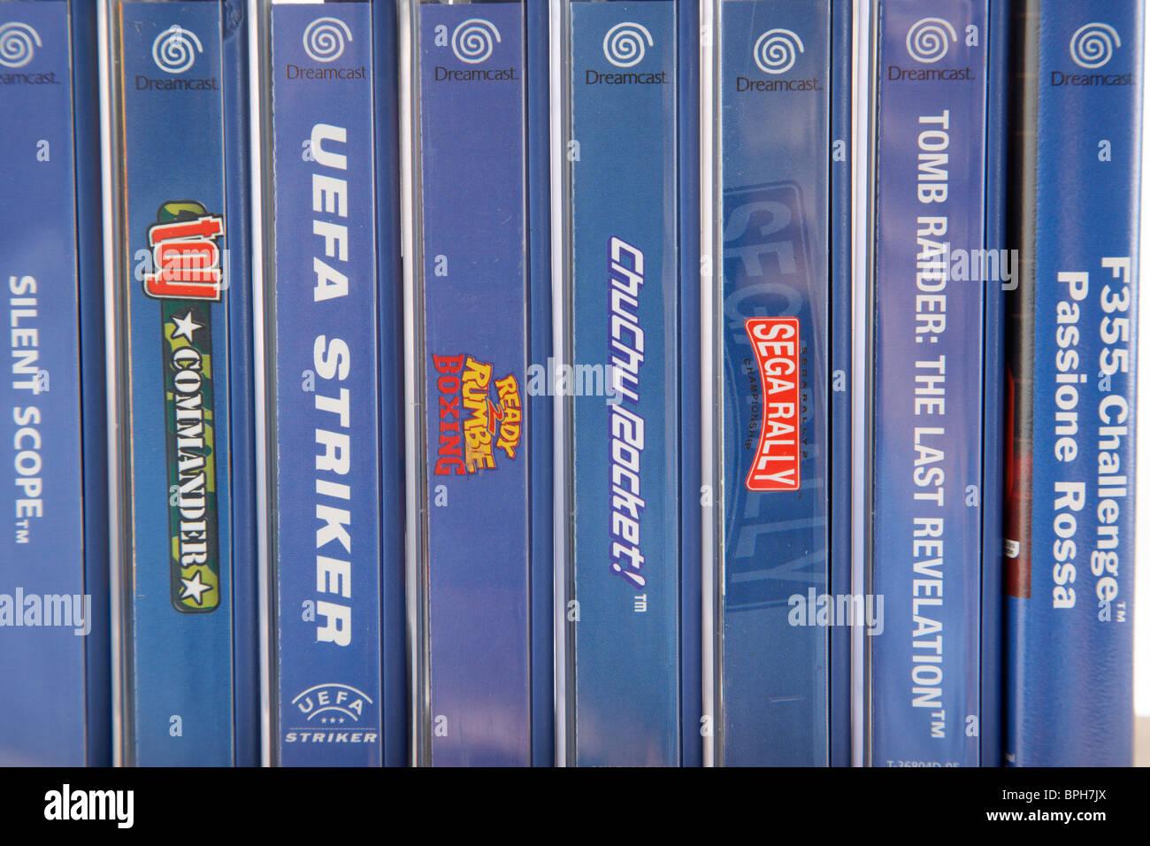 Juegos Originales Para Sega Dreamcast Desde Los 90s Foto Imagen De