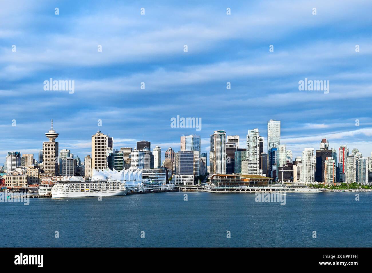 Horizonte de Vancouver, Canadá Imagen De Stock