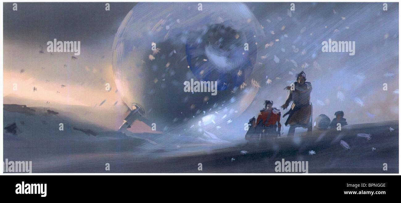 Concepto ARTWORK LA GUÍA DE AUTOESTOPISTA De la Galaxia (2005). Imagen De Stock