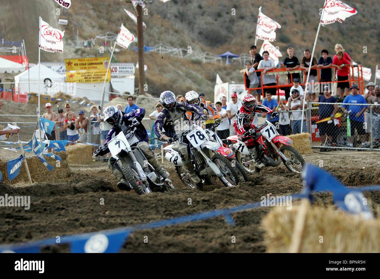 BIKE carrera Supercross de escena (2005). Foto de stock