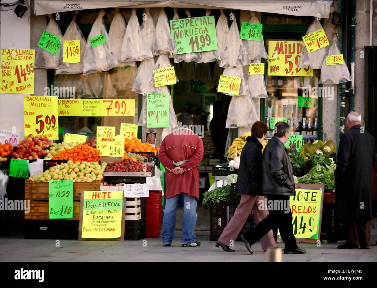 Tienda en Oporto Foto de stock