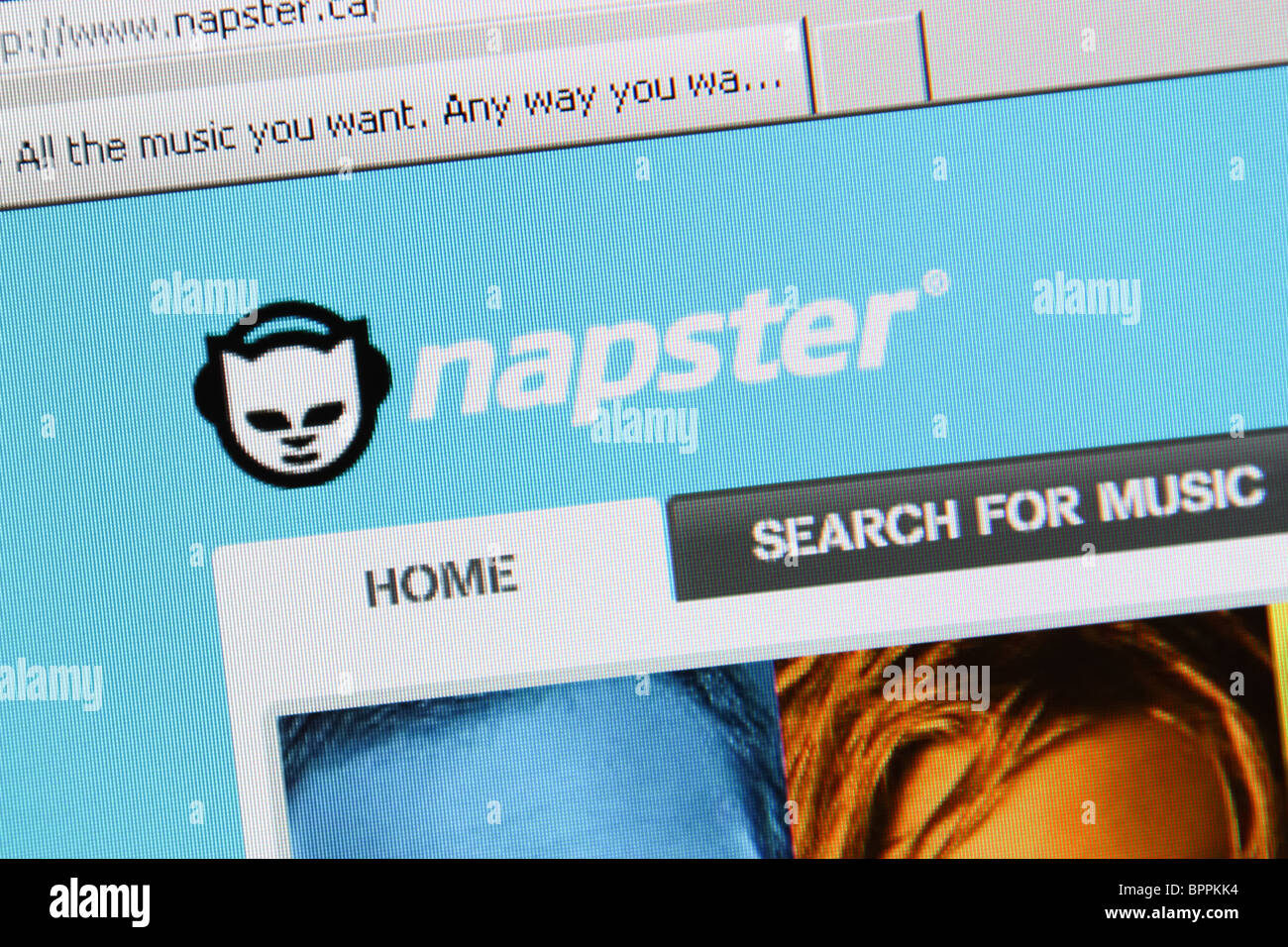 Descargar música de Napster Imagen De Stock
