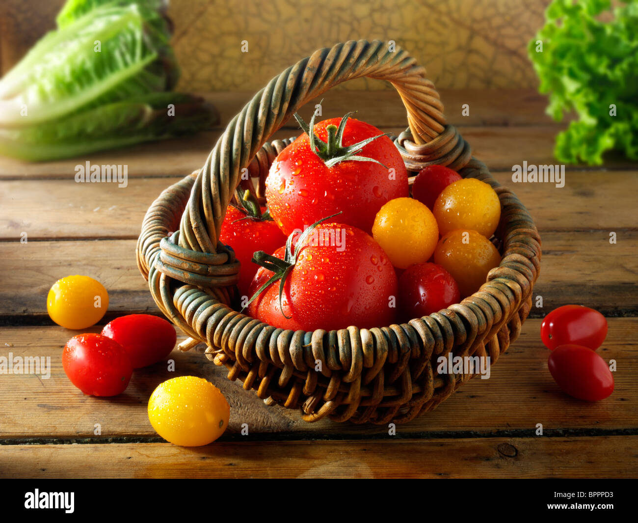 Mezcla los tomates, fotos, dibujos e imágenes Imagen De Stock
