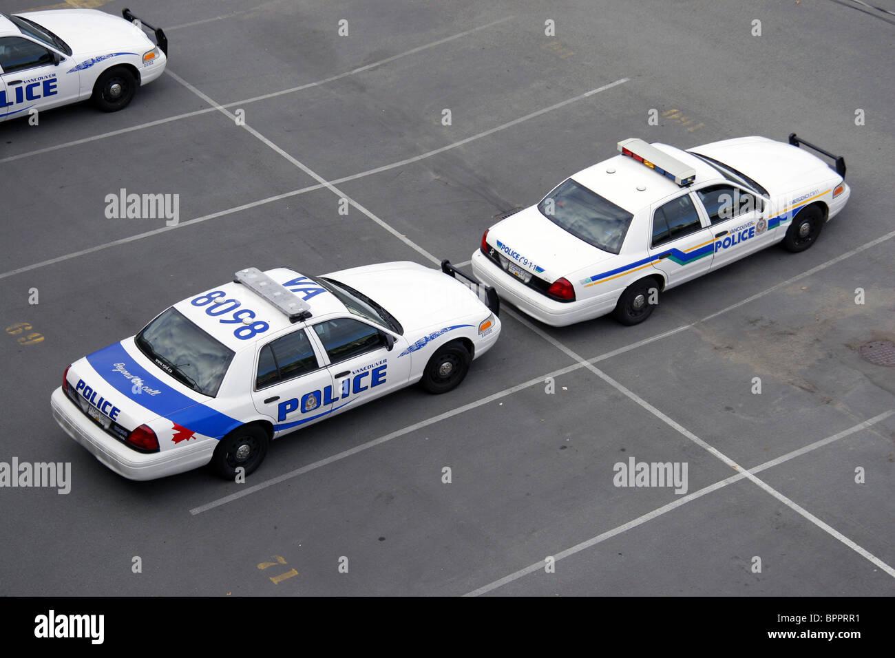 Los vehículos del departamento de policía de Vancouver, Vancouver, British Columbia, Canadá Imagen De Stock