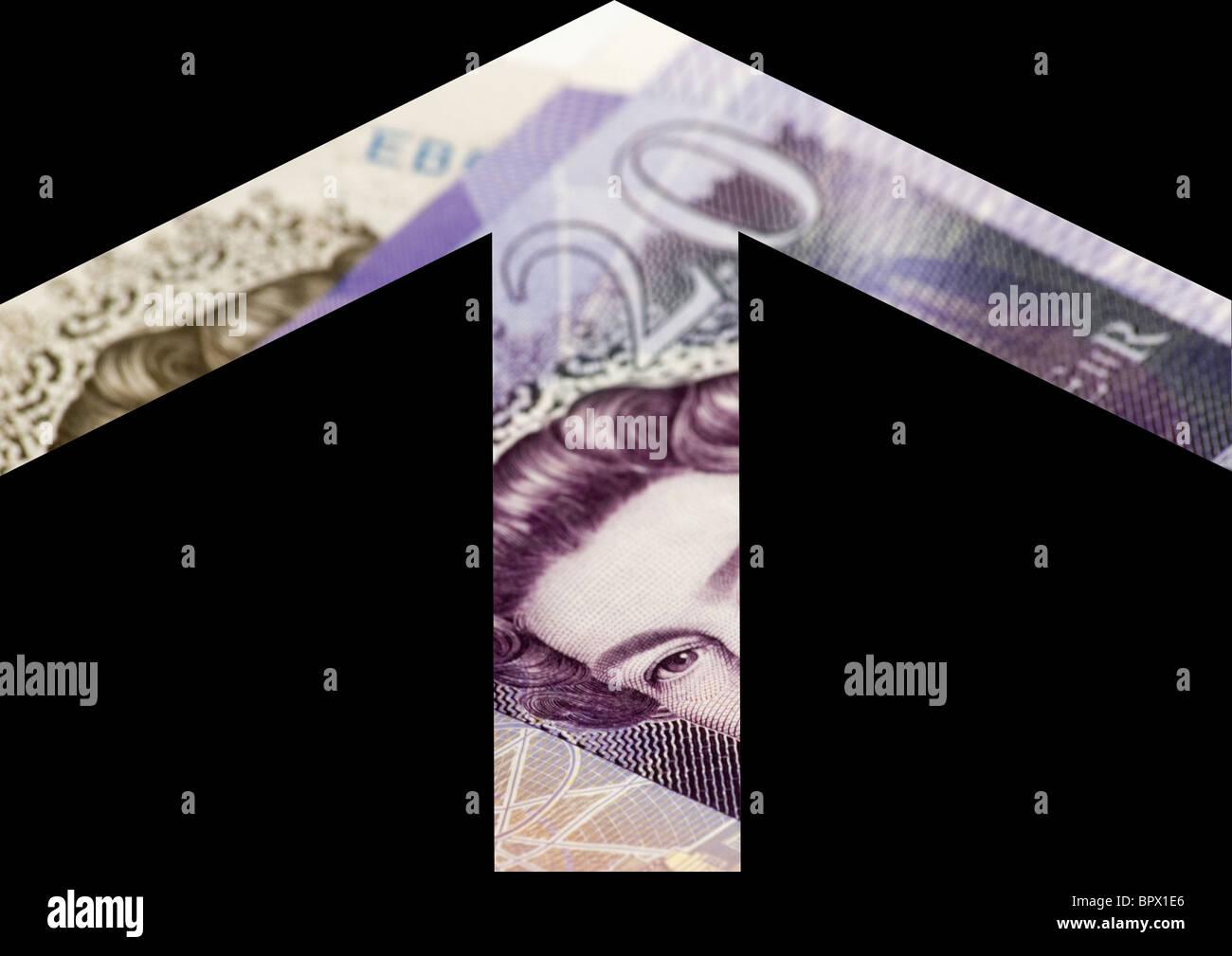 Imagen que muestra mejoras económicas Foto de stock