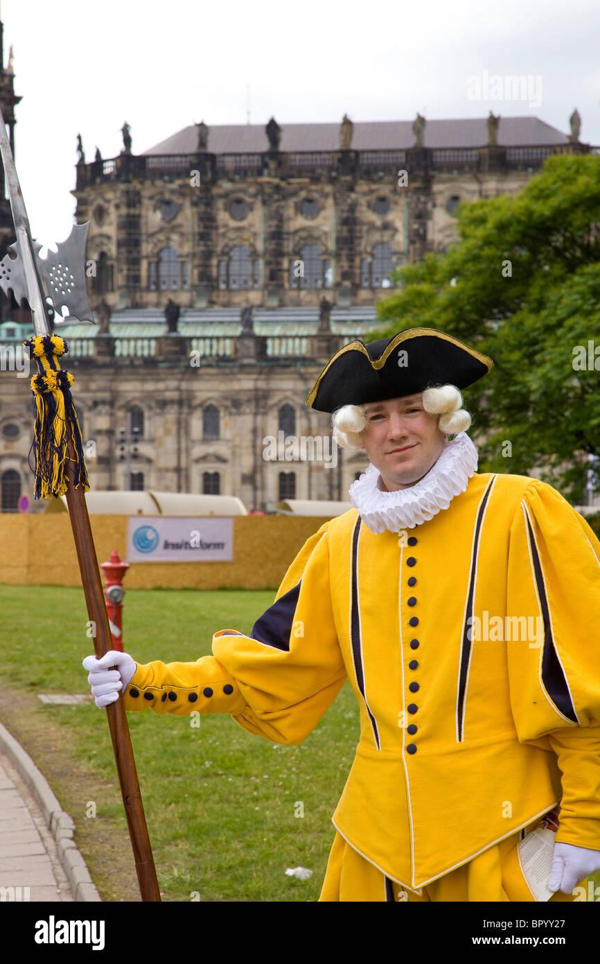 Fotografía de un actor vestido como un aristócrata alemán en Dresde Imagen De Stock