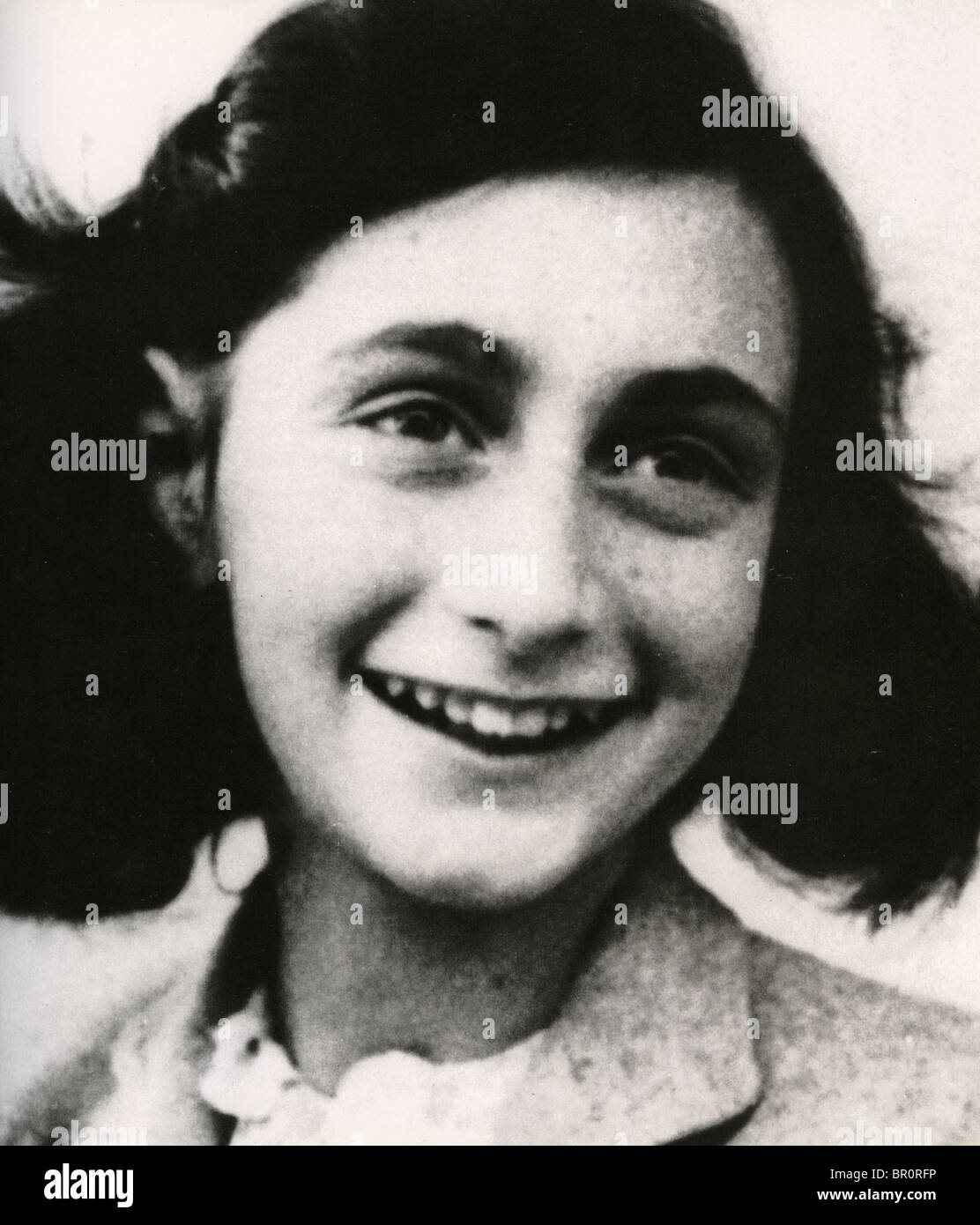 ANNE Frank (1929-1945) Holandés judío víctima del Holocausto Foto de stock
