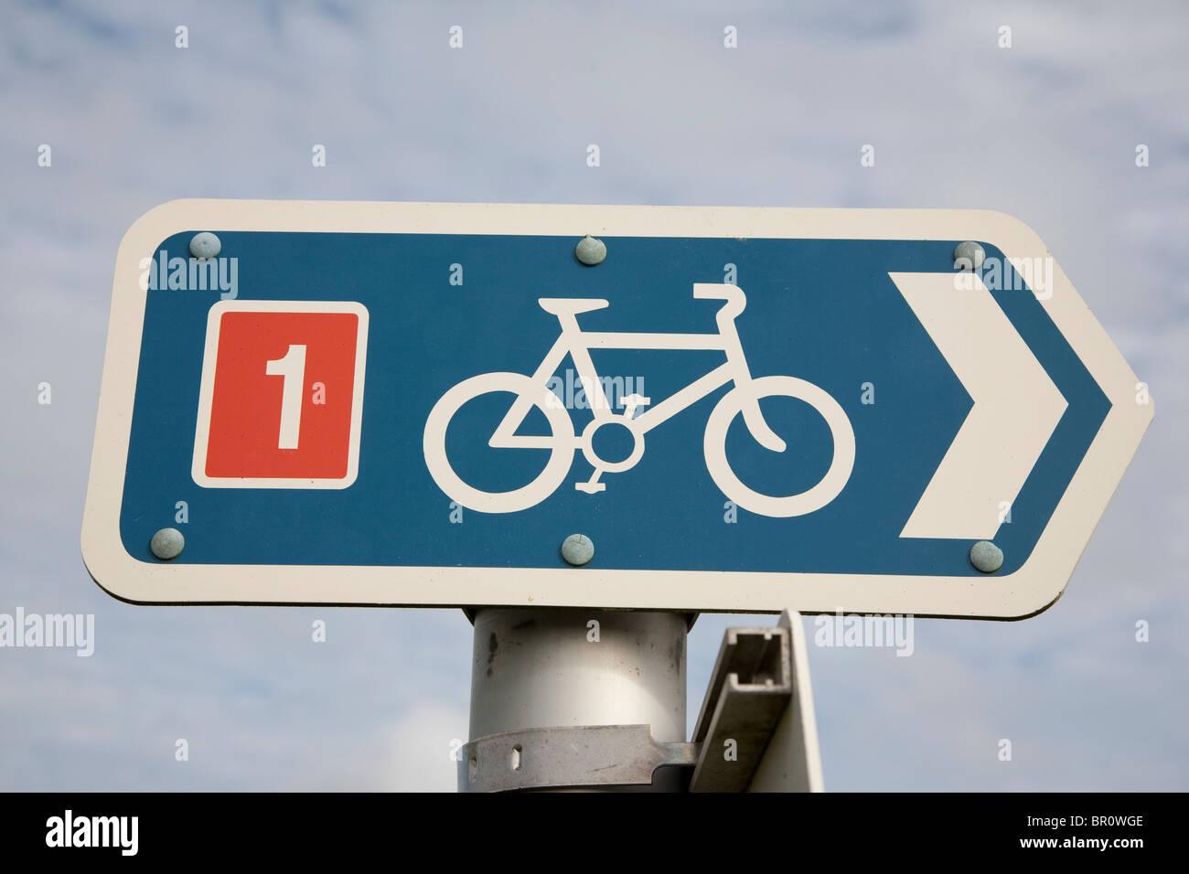 Red de ciclo ruta nacional número 1 Imagen De Stock
